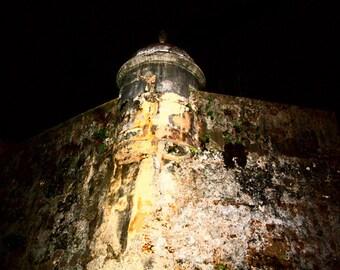 Old San Juan Photography, El Morro, Fort, Rustic Urban Photography, 8x10