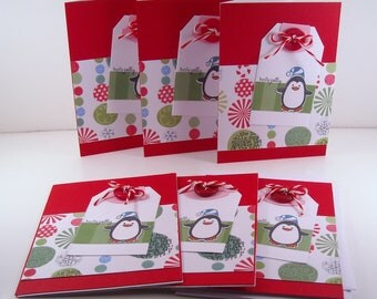 Set of 6 Christmas Cards: Holly Jolly