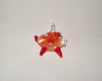 Pig Lampwork Pendant