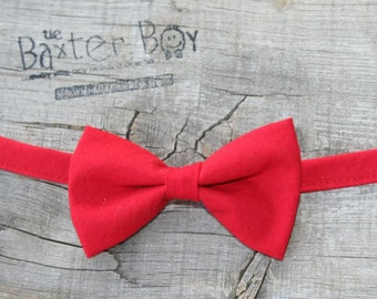 Solid Red Bow Tie for little boys - photo prop, ring bearer, wedding