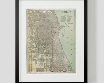 1896 Map of Chicago