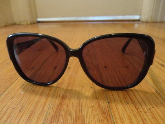Vintage Rare Gucci Sunglasses model 2118/s oversize black with GG logo