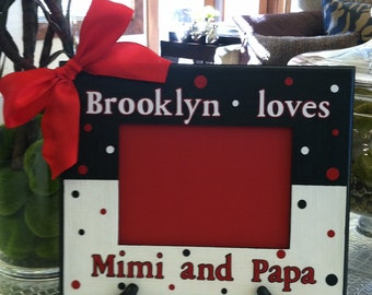 Custom Picture Frame with Polka Dots