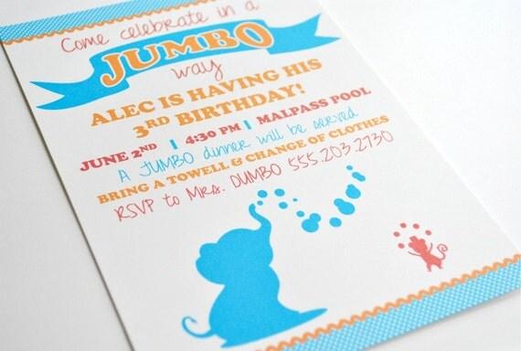 Dumbo Invitation