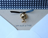 I am a FAN Notecards with Fan Charm and lined envelopes-Set of 3