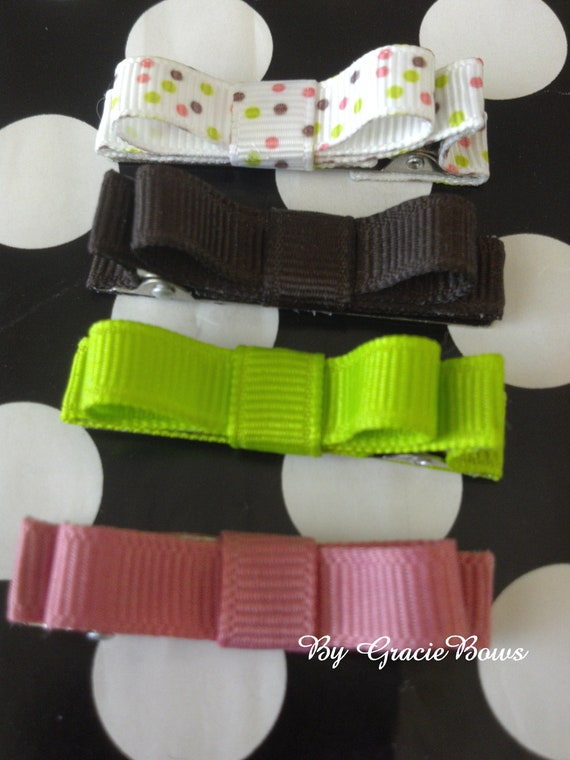 Lil Sprinkles Bow Mini Clippies