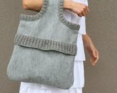 Gray elegance bag tote - Everyday purse gift idea under 60 Spring fashion