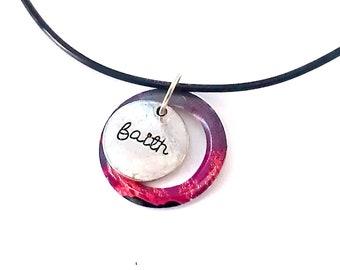 Faith Necklace Cross Necklace Christian Jewelry Recycled Soda Can Jewelry Women Jewelry Women Gift Charm - N71