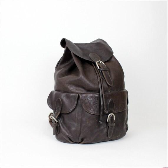 leather backpack / espresso brown cargo rucksack