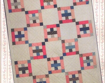 The Blue Cross Quilt Pattern PDF Reproduction Traditional Style