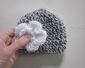 5 DOLLAR SALE-Newborn hat in gray