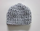 5 DOLLAR SALE- Newborn Hat in Gray