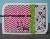 Stamped Love 4-Bar Card with Chevron and Washi Tape