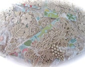 Variety Pack Venice Lace Applique and Trim Assortment - Value and Fun Great for Crazy Quilting Mixed Media and Jewelry Design