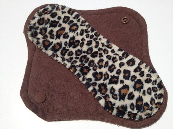 Reusable Minky Cloth Panty Liner Cheetah