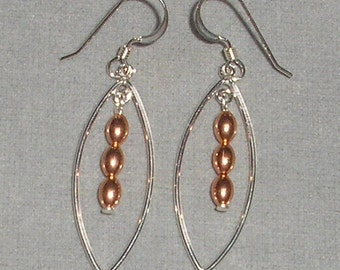 Mixed Metal Dangle Earrings