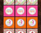 Printable Party Toppers - I Want Candy - Candyland Inspired Sweet Shop Collection Collection - DIY Printables by The Paper Cupcake