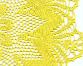 extra large Crochet doily, lace doily, table decoration, crocheted place mat, center piece,doily tablecloth, table runner, napkin, yellow