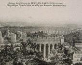 Ruins of Château de Fère-En-Tardenois, France - Unused Vintage French Postcard