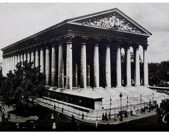 La Madeleine, Paris, France - Vintage French Postcard