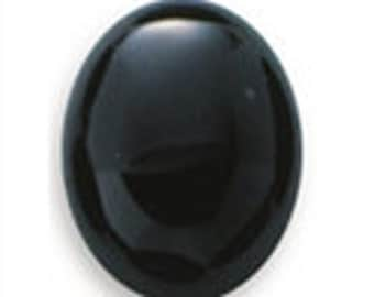 6 Oval 16 x 12mm Black Onyx Cabochon