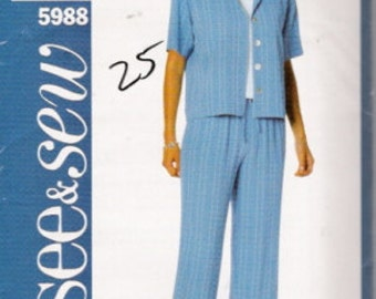 Butterick 5988 See & Sew Pattern SZ 14-18  CLEARANCE ITEM
