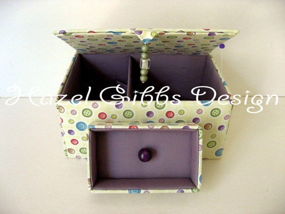 sewing boxes - decorative storage boxes - sewing basket - hand stitched sewing boxes - one of a kind sewing boxes