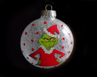 Single Ornaments - The Grinch Inspired