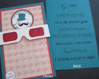 Decoder I Spy Birthday Invitation-Printable