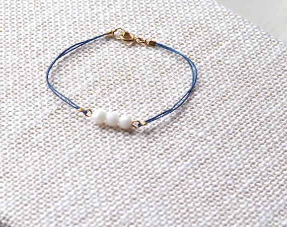 Nola Bracelet (Navy & White)