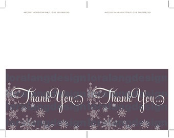 DIY Printable Baby It's Cold Outside Thank You Cards INSTANT DOWNLOAD