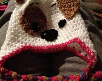 Bubble Guppies Bubble Puppy Crochet Winter Hat GIRL COLORS