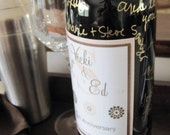 Wine Bottle Guest Book Kit with Custom Laminated Labels for Weddings