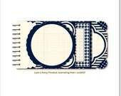 Navy Blue Journaling Pad Lush 2 by My Mind's Eye 18 pcs