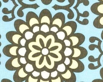 Amy Butler Fabric - Half Yard Wall Flower in Sky