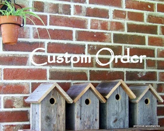 Custom Order - Bird Feeders