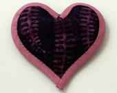 Catnip Toy Valentine's Day Heart PLUM BATIK