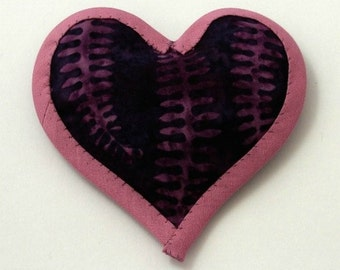 Catnip Toy Valentine's Day Heart PLUM BATIK