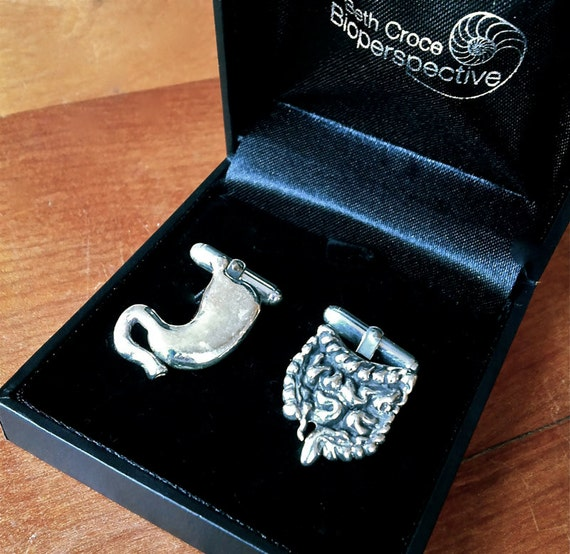 Gastroenterology Anatomical Cufflinks in Solid Sterling Silver