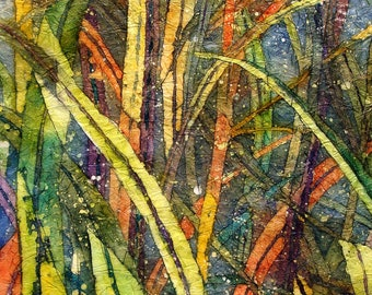 SPLENDOR in the GRASS - Giclee  Print of Original Watercolor Painting