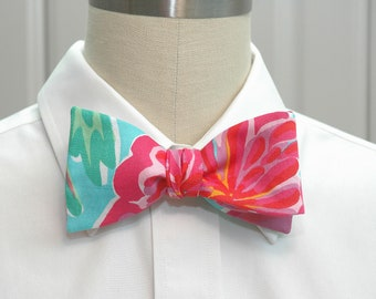 """Men's Lilly Bow Tie in """"Shorely Blue Bellina"""" design"""