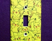 Pikachu Pokemon Yellow Light Switch Cover - Switchplate - Switch Plate Cover