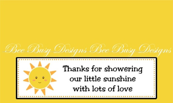you are my sunshine baby shower party favor bag toppers