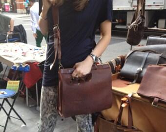 Women's satchels, Soft leather satchel handbags, Chestnut leather, Womens laptop bag, Work satchel womens, Stylish laptop bag, Chestnut bag