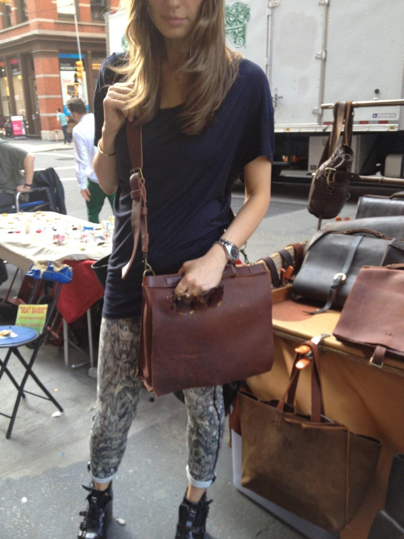 Women's satchels Soft leather satchel handbags Chestnut