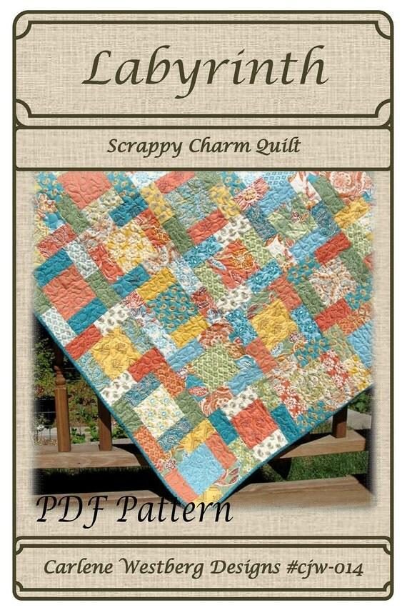 PDF Quilt Pattern Labyrinth Scrappy Charm Carlene Westberg
