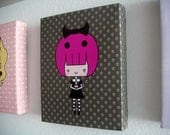 Cute and Creepy Canvas Print - 8 by 10 - Penelope