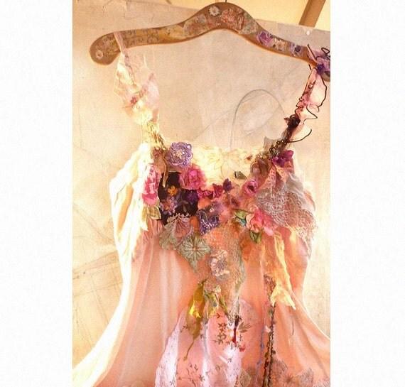 OFF Beautiful Art to Wear Dress/Tunic GIPSY MEADOW Boho Hippi Girl  Ethno Rustic Country
