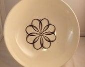 Vintage Atomic Flower Serving Bowl