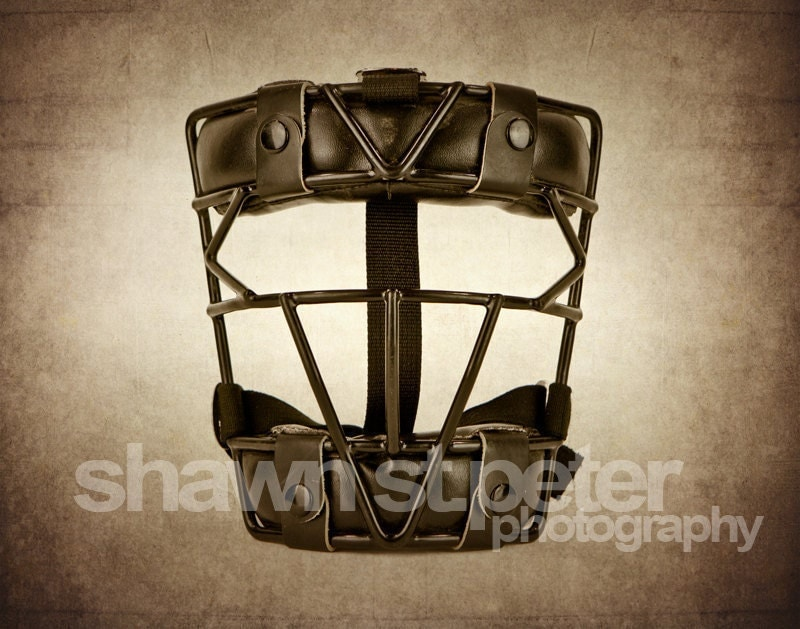 Vintage Catchers Mask 8x10 print Boys Room Wall by shawnstpeter